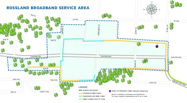 Rossland Broadband Service Area