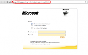 Fake Outlook Web Access