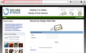 False Webmail Login Page